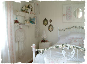 Bedroom on Mademoiselle Rose  New Shabby Chic Book