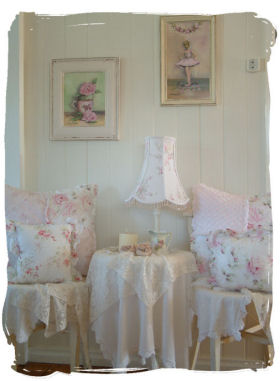 Dining Room on Mademoiselle Rose  New Shabby Chic Book